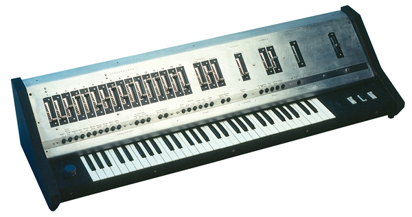Uli's first synthesizer which he built at the age of 16.